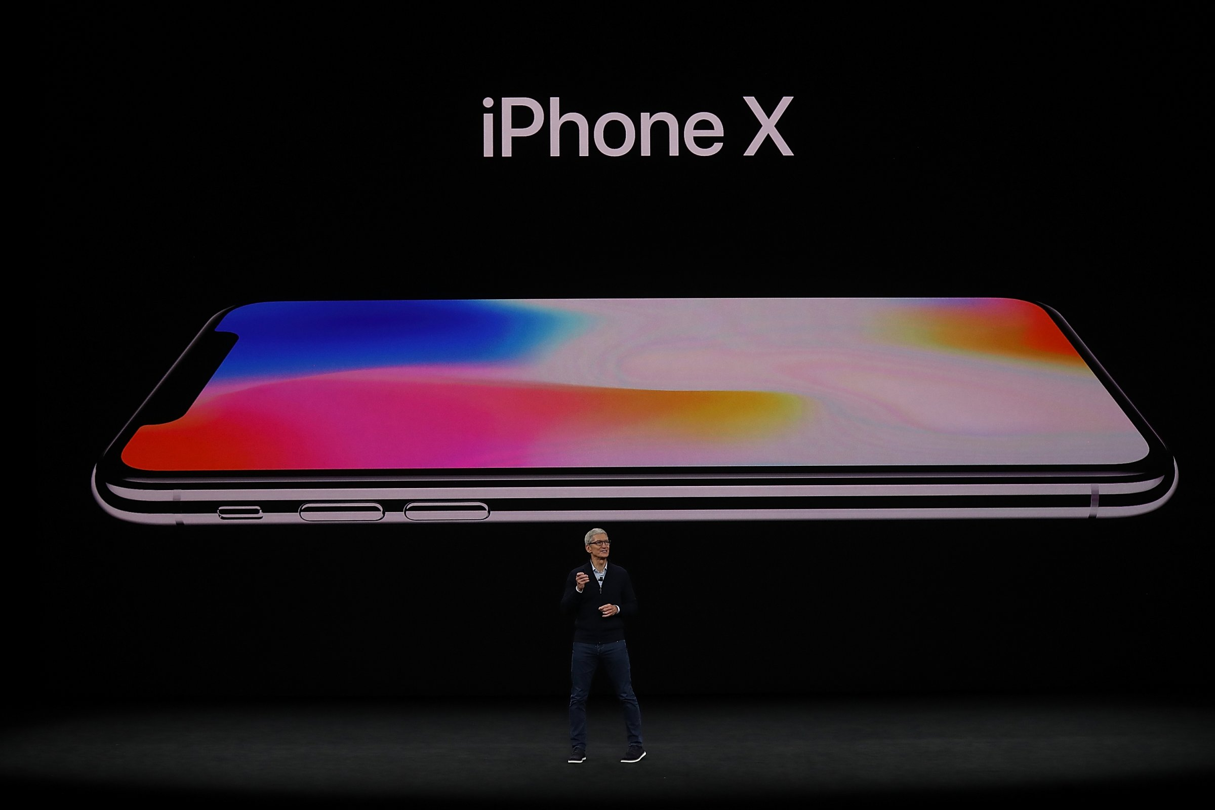 iPhone X Tim Cook
