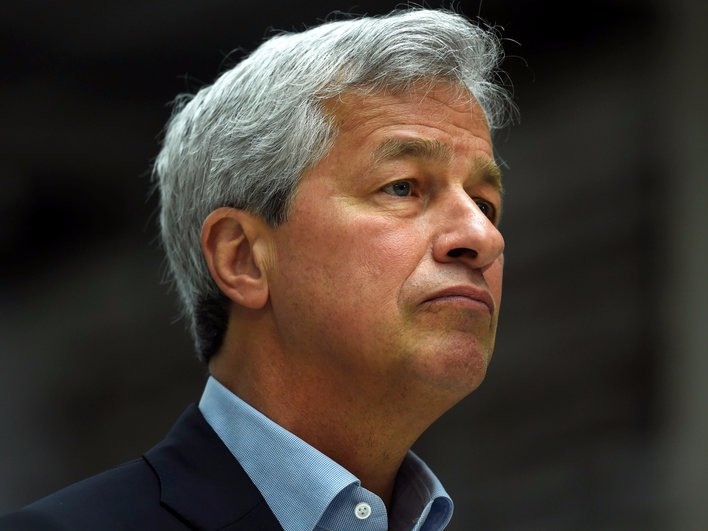 FILE PHOTO: JP Morgan CEO Jamie Dimon speaks at a Remain in the EU campaign event attended by Britain