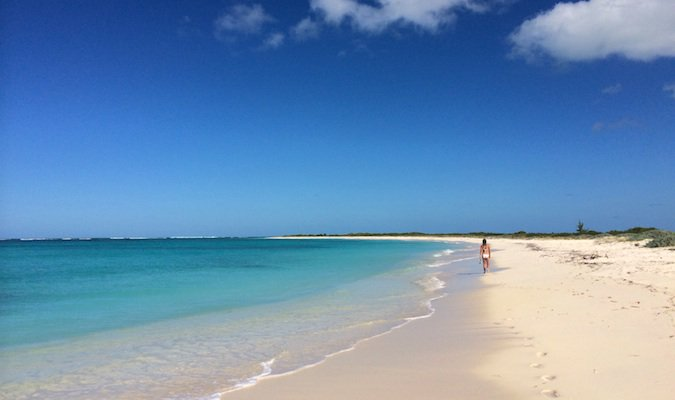 the empty beach on anegada, vi