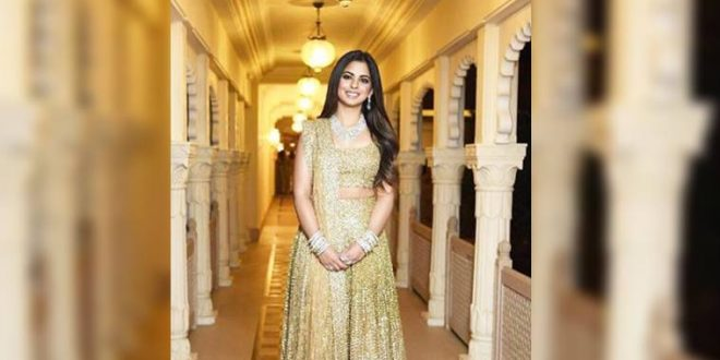 daa166031759 Isha Ambani-Anand Piramal Sangeet ceremony: The bride glows in a golden Manish  Malhotra lehenga - The Entrepreneur Fund