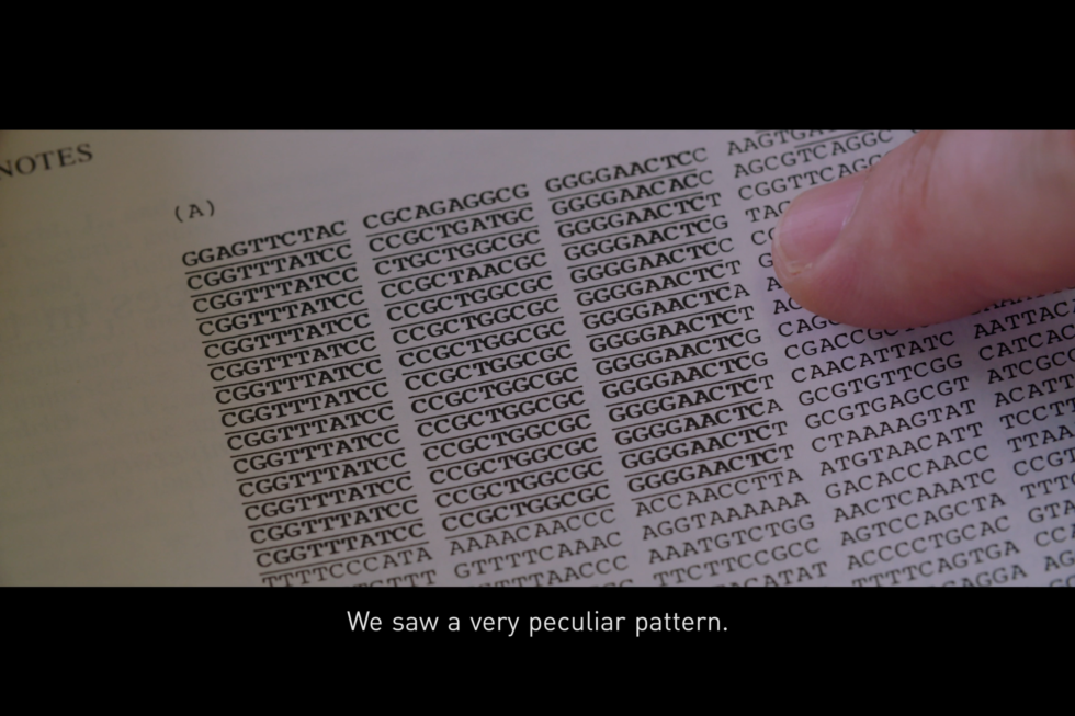 They saw a very peculiar pattern.