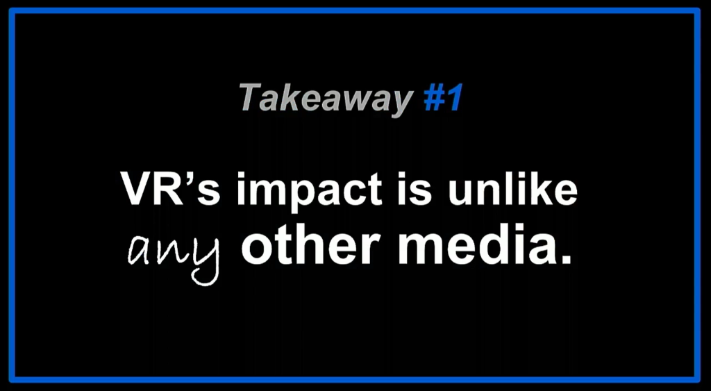 Dominic Mallinson VR takeaway #1: VR's impact is unlike any other media