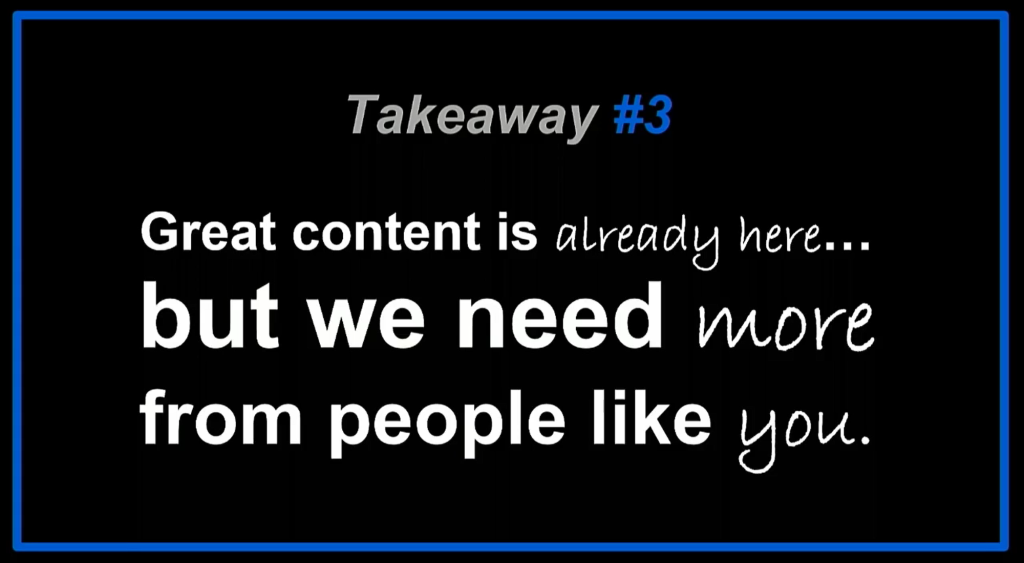 Dominic Mallinson VR takeaway 3. Great content is already here, but we need more