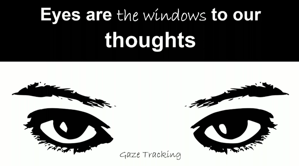 Gaze tracking: Eyes are the windows to our thoughts