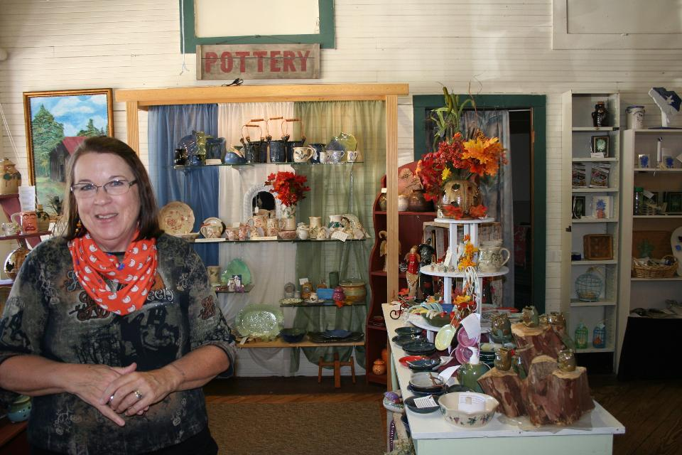 Elizabeth Ringus and the Little Red Barn Pottery and Art Gallery in Barnwell.